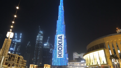 Photo of KIOXIA Celebrates First Anniversary by Showcasing Stunning Display at Dubai's Burj Khalifa